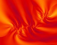 Orange Satin Fractal Design. Striking orange and gold satin fractal illustration Royalty Free Stock Images