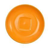 Orange saucer. Isolated on white background. Top view Stock Images
