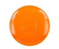 Orange saucer Royalty Free Stock Images