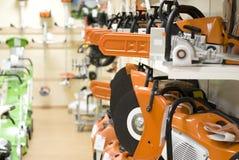 Orange saws. In a row Royalty Free Stock Photo