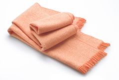 Orange scarf Stock Photography