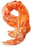 Orange scarf royalty free stock image
