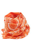 Orange scarf Stock Image