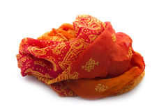 Orange scarf Royalty Free Stock Photos