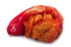 Orange scarf Royalty Free Stock Photography