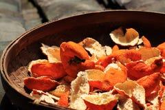 Orange Schale Stockbild