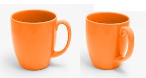 Orange Schalenisolat auf Weiß mit Beschneidungspfad Lizenzfreie Stockbilder