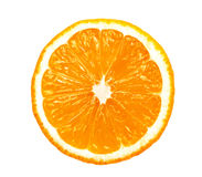 Orange Scheibe trennte Lizenzfreie Stockfotos