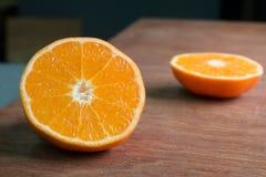 Orange Scheibeabschluß oben Lizenzfreie Stockbilder