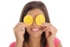 Orange Scheibelächeln Stockfotografie