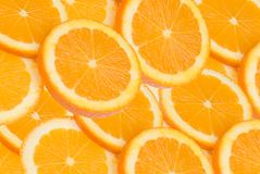 Orange Scheiben stockfotos