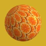 Orange Scheiben Stockbild