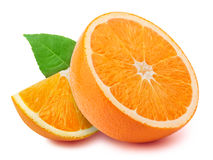 Orange Scheiben auf Weiß Lizenzfreies Stockbild