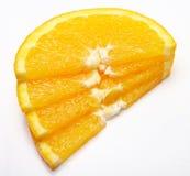 Orange Scheiben getrennt Stockfoto