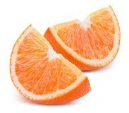 Orange Scheiben lokalisiert auf einem weißen Hintergrund Lizenzfreie Stockfotografie