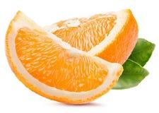 Orange Scheiben lokalisiert auf einem weißen Hintergrund Lizenzfreies Stockfoto