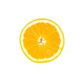 Orange Scheibenisolat auf Weiß mit Arbeitsweg Lizenzfreies Stockbild