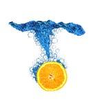Orange Scheibespritzen Stockbild