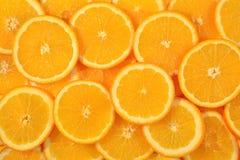 Orange schneidet Hintergrund Lizenzfreies Stockfoto
