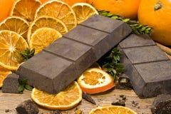 Orange Schokolade lizenzfreie stockfotografie