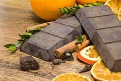 Orange Schokoladenahaufnahme stockfoto