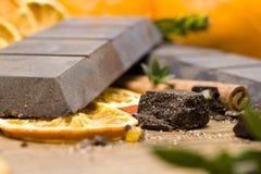 Orange Schokoladenahaufnahme lizenzfreies stockfoto