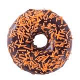 Orange Schokoladendonut Lizenzfreies Stockbild