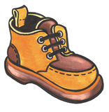Orange Schuh Lizenzfreies Stockfoto
