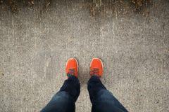 Orange Schuhe Lizenzfreie Stockfotografie