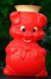 Orange Schwein-Geld-Kasten lizenzfreies stockbild