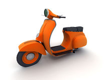 Orange scooter Royalty Free Stock Images