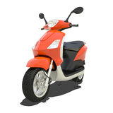Orange Scooter Isolated Stock Images