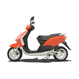 Orange Scooter Isolated Royalty Free Stock Photos