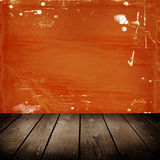 Orange scratch wall Royalty Free Stock Photos