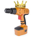 Orange screwdriver and a crown Royalty Free Stock Photography