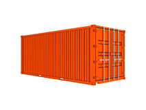 Orange sea container Royalty Free Stock Image