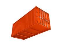 Orange sea container Stock Images