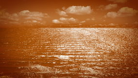 Orange sea stock video footage