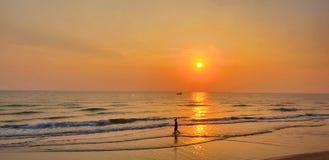 orange sea. stock photography