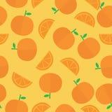 Orange Seamless Background. Orange  seamless vector  background with flat style Stock Photo