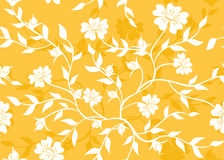 Orange seamless floral texture - vector Royalty Free Stock Photography