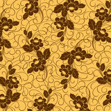 Orange seamless flower pattern Royalty Free Stock Images