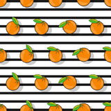 Orange seamless pattern in a flat style Royalty Free Stock Photo