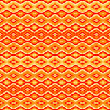 Orange seamless pattern with geometric motifs. Abstract background Royalty Free Stock Image