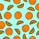 Orange seamless pattern. Juicy Fruits royalty free illustration
