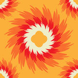 Orange seamless pattern with ornate flower. Royalty Free Stock Image