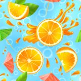 Orange seamless pattern Royalty Free Stock Photography