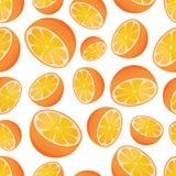 Orange seamless pattern Stock Photos