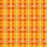Orange seamless texture plaid Stock Photography