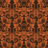 Orange seamless wallpaper royalty free stock photo